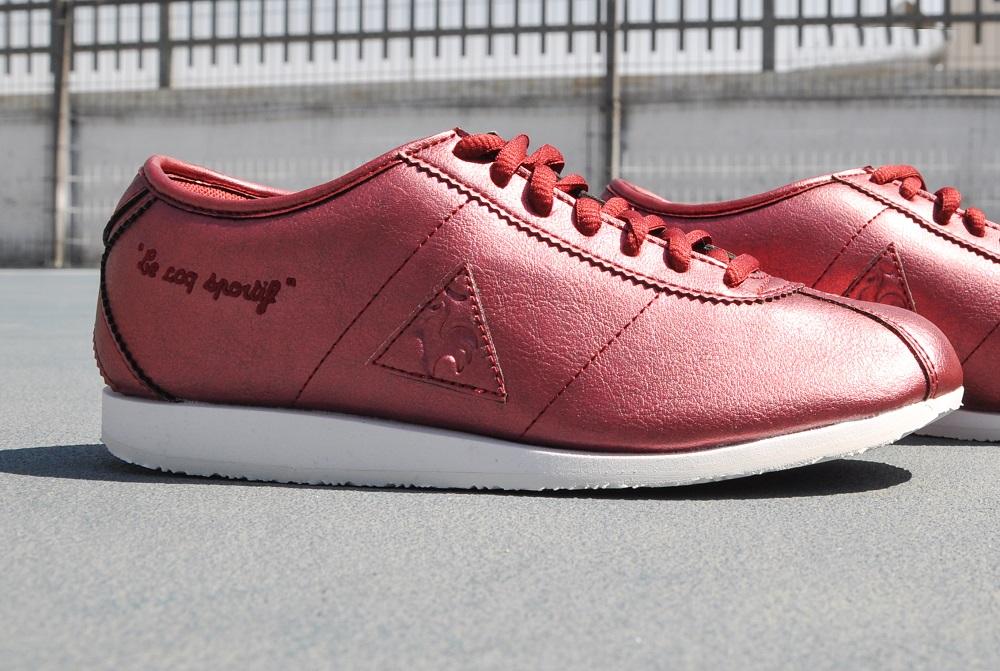 נעלי לה קוק בצבע אדום יין עתיק
