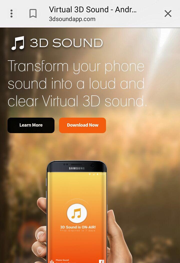 אפליקציה virtual 3d sound