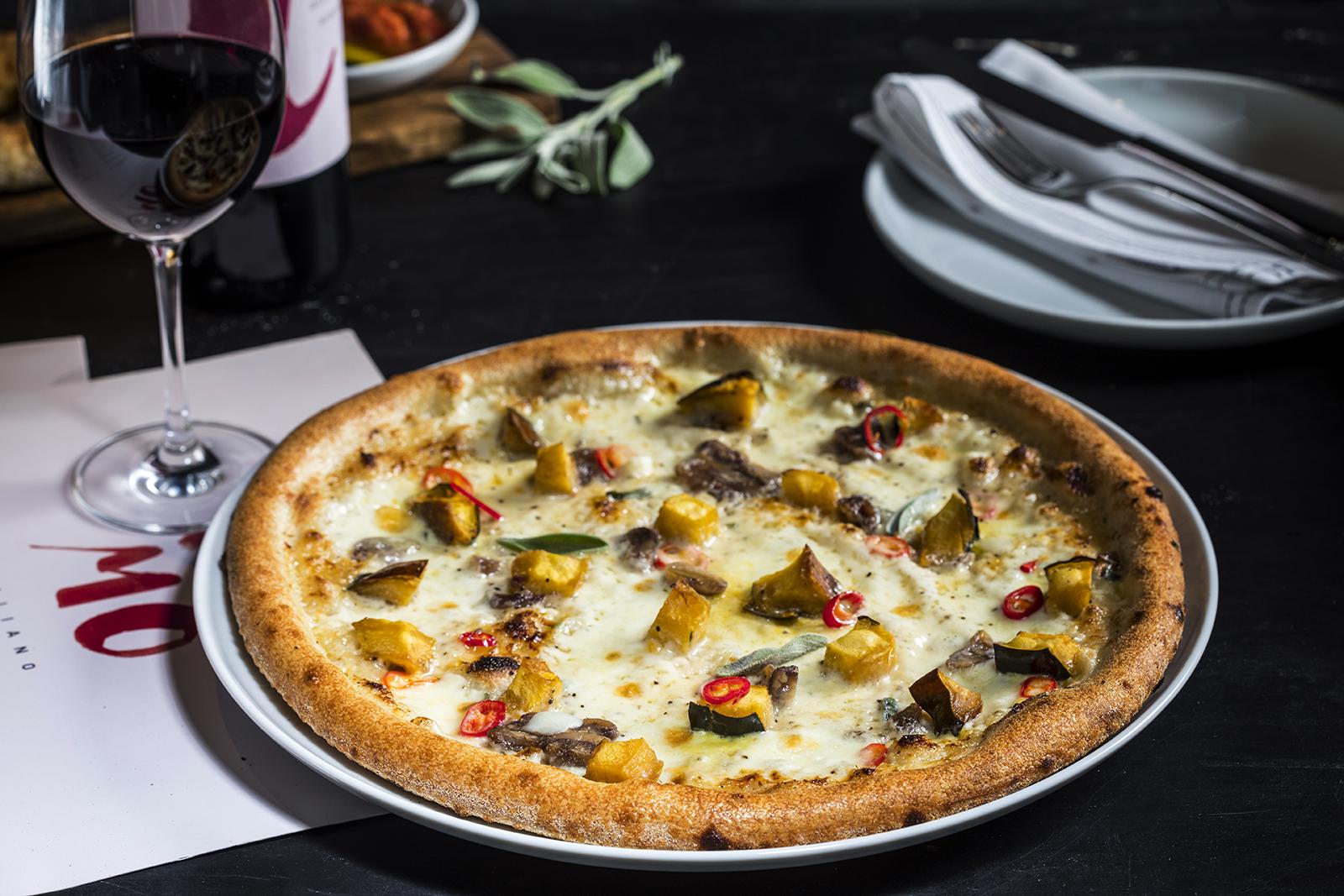 פיצה דלעת גרונגוזולה צילום: אפיק גבאי