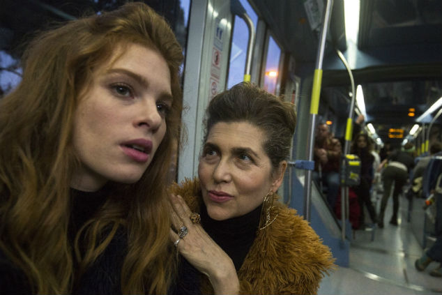 קרן מור ויובל שרף ברכבת קלה