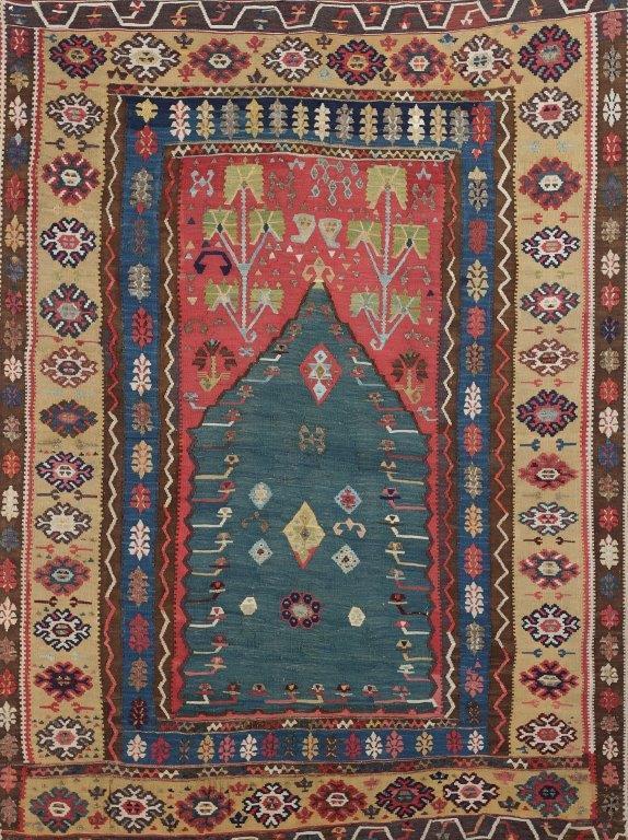 קילים, שטיח תפילה, תחילת המאה ה 19, אוסף  פרטי ישראל. צלם מייקל מן