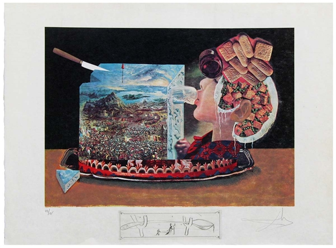 תערוכה של דאלי בגלריית אלטמן תל אביב- מתוך סדרת ארוחת ערב עם גאלה (7)