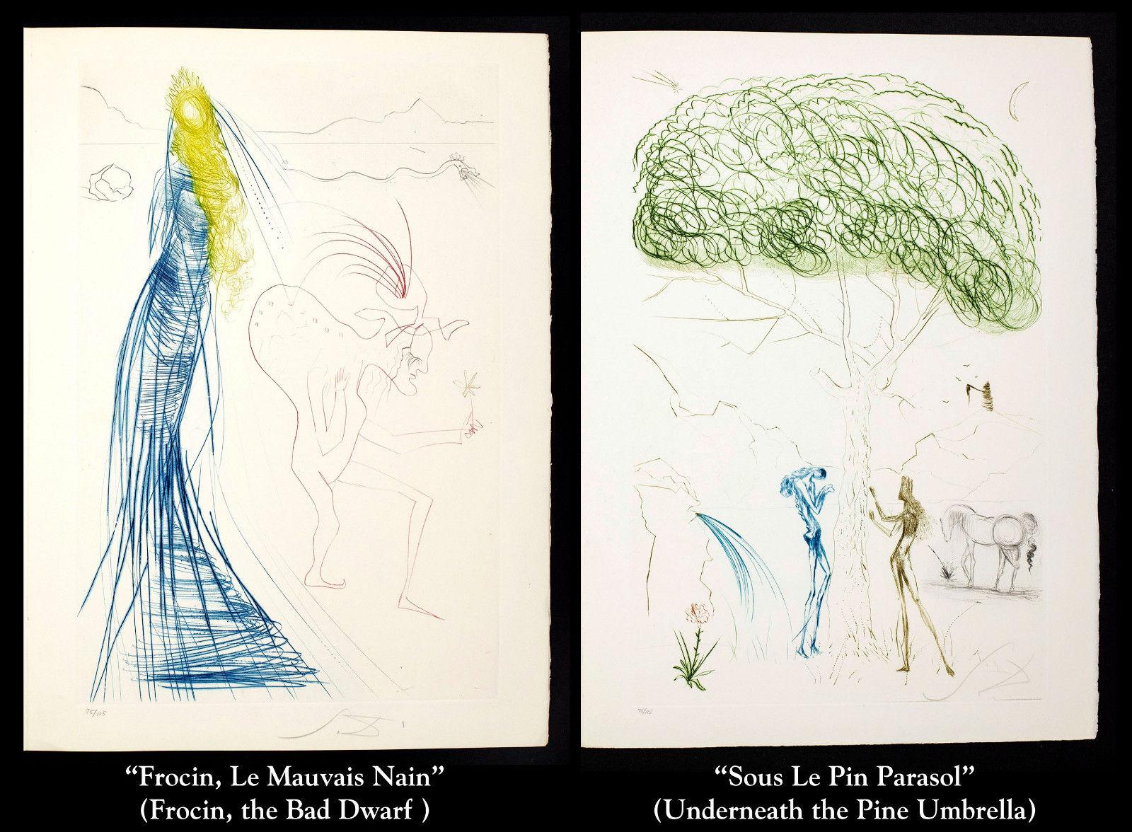 דאלי- סדרת איורים טריסטן ואיזודלה בתערוכה בגלריית אלטמן תל אביב (16)