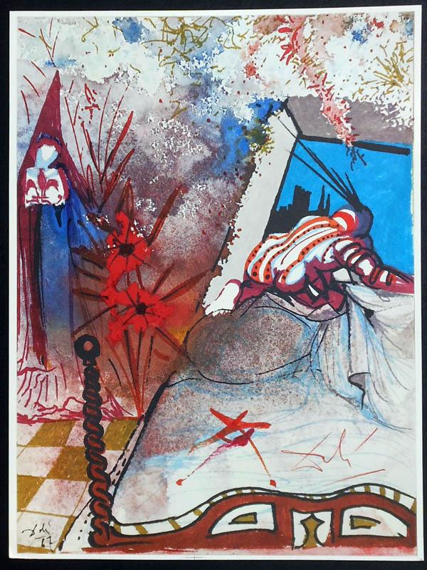 תערוכה של דאלי בגלריית אלטמן תל אביב-מתוך סדרת איורים רומיאו וג'ולייט (7)