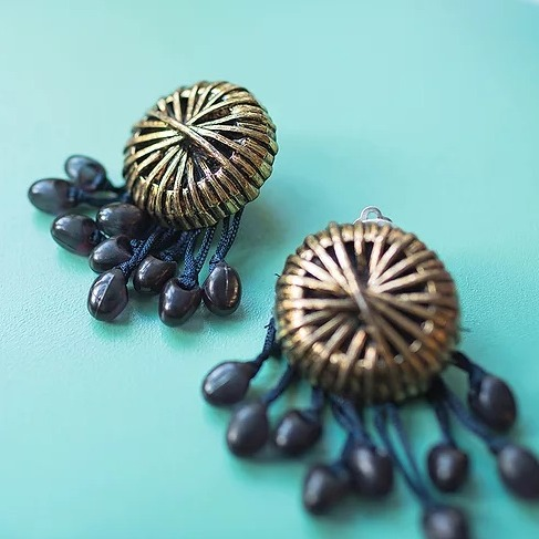 black rain earrings