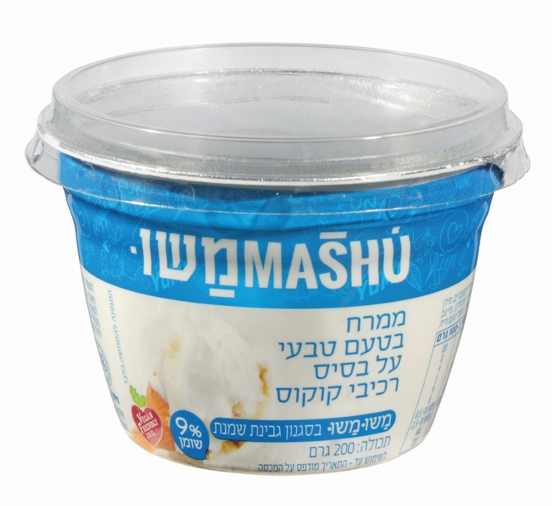 ממרח בטעם טבעי בסגנון גבינת שמנת משומשו